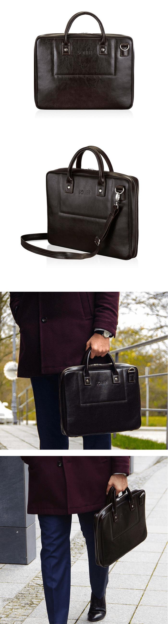 мужская сумка для документов solier