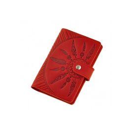 Обложка для паспорта с кожи красная 3.0, фото