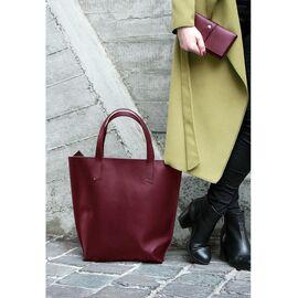 Женская кожаная сумка шоппер виноград, фото