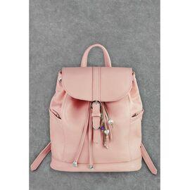 Кожаный женский рюкзак розовая пудра Олсен, фото