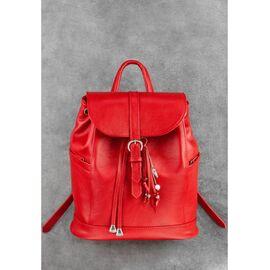 Кожаный женский рюкзак красный Олсен, фото