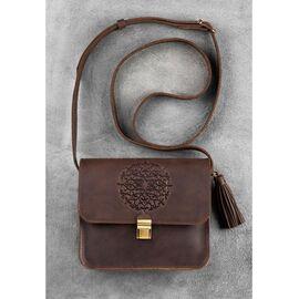 Дизайнерская сумка кожаная орех Бохо- Лилу, фото