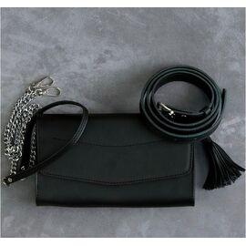 """Женская сумка кожаная черная """"Элис"""", фото"""