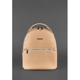 Женский кожаный рюкзак бежевый KYLIE, фото