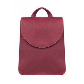 Кожаный рюкзак женский красный Элион, фото