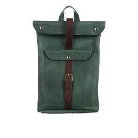 Кожаный рюкзак зеленый Рио, фото