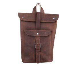 Кожаный рюкзак коньячный Рио, фото