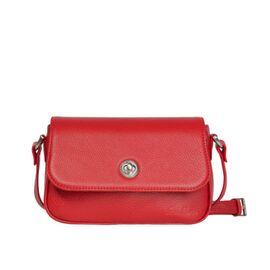 Маленькая женская кожаная сумочка красная НОРА 20 (15-00), фото