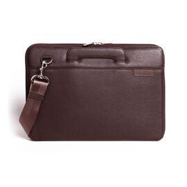 Папка кожаная для MacBook (Макбук) коричневая B13 (12-00), фото