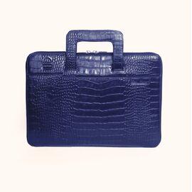Папка кожаная с тиснением для MacBook (Макбук) синяя B13 (23-00), фото