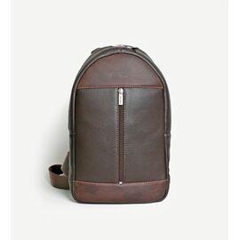 """Рюкзак мужской кожаный для ноутбука коричневый 13""""  BP1 (12-32), фото"""
