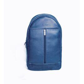 """Рюкзак мужской кожаный для ноутбука синий 13"""" BP1 (13-33), фото"""