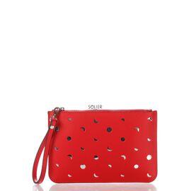 Итальянский женский кожаный клатч 1536_red кожаный Красный, фото