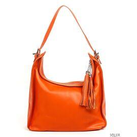 Итальянская женская кожаная сумка 6906_orange, фото