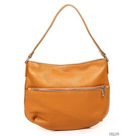 Итальянская женская кожаная сумка 6947_cuoio, фото