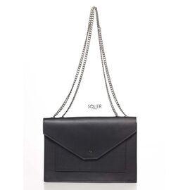 Итальянский женский кожаный клатч 8415_black кожаный Черный, фото