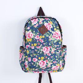 Рюкзак с цветочным принтом Boho patterns темная роза, фото