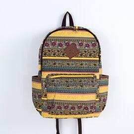 Рюкзак с цветочным принтом Boho patterns желтый, фото
