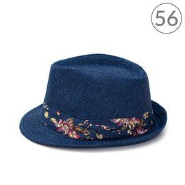Шляпа Федора темный принт, фото