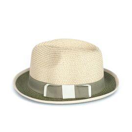 Шляпа Канотье зеленая, фото