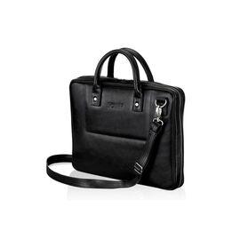Кожаная сумка для ноутбука черная 15.6 BELFAST, фото