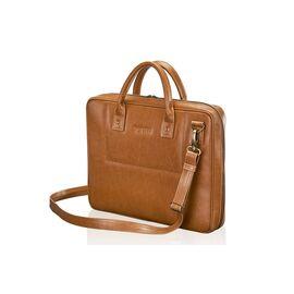 Кожаная сумка для ноутбука коричневая 15.6 BELFAST, фото
