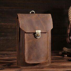 Оригинальный кожаный аксессуар, цвет коричневый, Bexhill bx2089, фото