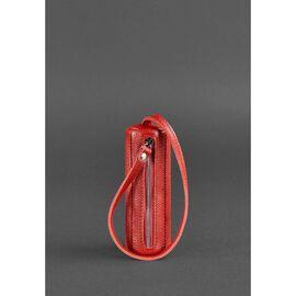 Женская кожаная ключница 3.0 Тубус красная, фото