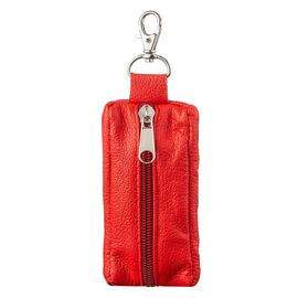 Яркая ключница из натуральной кожи Shvigel 13953, Красный, фото
