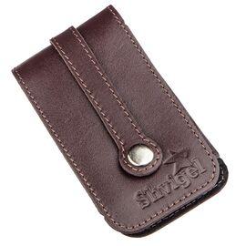 Компактная кожаная ключница с хлястиком SHVIGEL 13989 Коричневая, фото