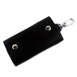 Стильная кожаная ключница Vintage 14934 Черная, фото