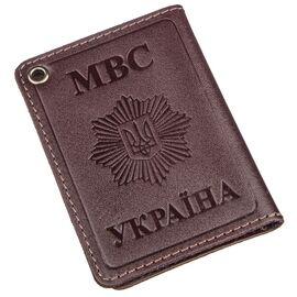Компактная обложка на документы МВС Украины SHVIGEL 13979 Коричневая, фото