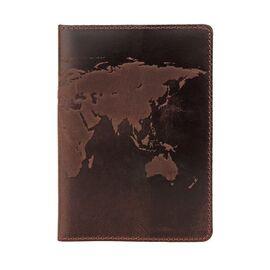 Оригинальная обложка на паспорт из натуральной кожи Shvigel 16135 Коричневая, Коричневый, фото