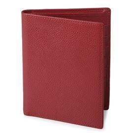 Кошелек кожаный с отделениями для паспортов красный SHVIGEL 13831, фото