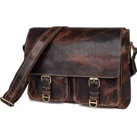 Сумка мужская кожаная коричневая Vintage 14524, фото