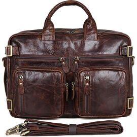 Сумка мужская кожаная коричневая Vintage 14590, фото
