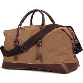 Сумка дорожная с текстиля Vintage 14580 коричневая, фото