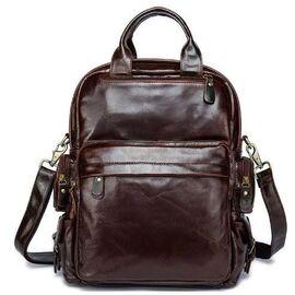 Рюкзак – трансформер кожаный Vintage 14889 Коричневый, Коричневый, фото