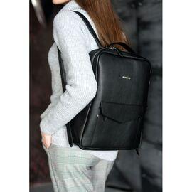 Кожаный городской рюкзак на молнии Cooper, нуар, фото