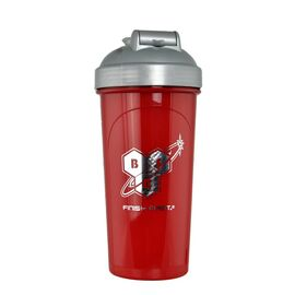 Shaker with metall ball - 700ml Red Grey, фото