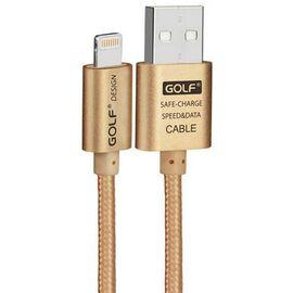 Кабель GOLF GC-47I Lightning cable 1m Gold, фото