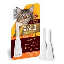 Golden Defence — капли против блох и клещей для кошек 4-8 кг, фото