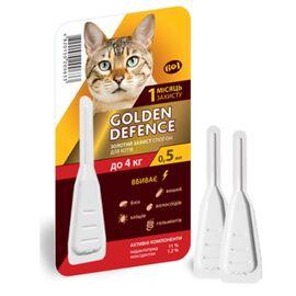 Golden Defence — капли против блох и клещей для кошек до 4 кг, фото
