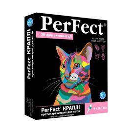 Перфект капли спот-он для котов от 2кг 0,6мл 5 капель против блох клещей комаров, фото