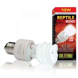 Компактная люминесцентная лампа Exo Terra «Reptile UVB 200» для облучения лучами УФ-В спектра 13 W, E27 (для облучения), фото