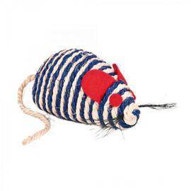 Мышка для кота с погремушкой 10 см (сизаль) - Trixie - 4074, фото