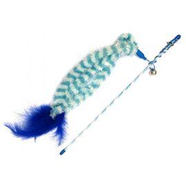 Удочка для кота с тремя хвостами 46 см (текстиль) - GimCat - G-80707, фото