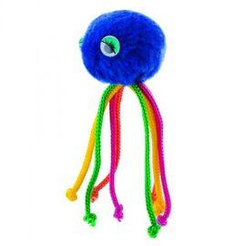 Мячик для кота с веревочками на резинке «Осьминог» 5 см (плюш) - Природа - PR240373, фото