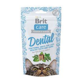 Функциональные лакомства Brit Care Dental с индейкой для котов, 50г, фото