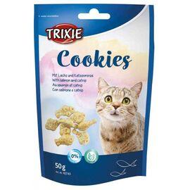 """Печенье для кошек Trixie """"Cookies"""" с лососем и кошачей/мятой, 50 г, фото"""
